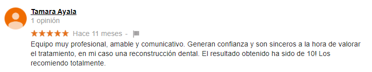 Testimonio Paciente Dental